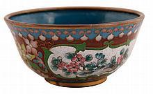 Qing Dynasty cloisonné bowl 4.5 cm. high, 10 cm.