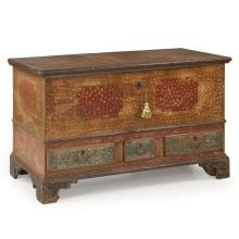 American Chippendale Painted Blanket Chest of Drawers, Pennsylvania c. 1790-1810