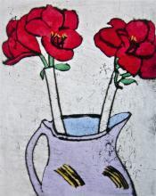 Amaryllis, Ltd Ed Colored Etching, Richard Spare
