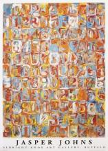 Numbers in Color, 1981 Exhibition Poster, Jasper Johns