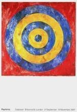 Target, 2007 Exhibition Poster, Jasper Johns