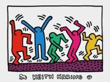 Untitled (Five Dancing Figures), 2011 Exhibition Poster, Keith Haring