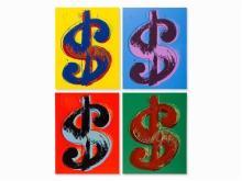 Dollar Sign Suite (Sunday B. Morning), Ltd Ed Silk-screen(s), Andy Warhol