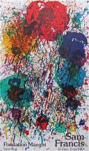 Untitled, 1983 Exhibition Poster, Sam Francis