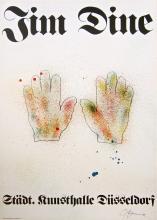 Hands, 1971 Exhibition Poster, Jim Dine