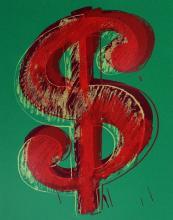 Dollar Sign Green (Sunday B. Morning), Ltd Ed Silk-screen, Andy Warhol