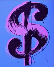 Dollar Sign Blue (Sunday B. Morning), Ltd Ed Silk-screen, Andy Warhol