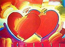 Peter Max - Two Hearts
