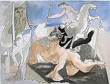 Pablo Picasso - Composition with Minotaur