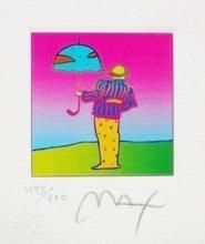 Cosmic Umbrella Man, Ltd Ed Lithograph (Mini 3.5