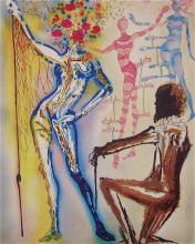 The Ballet of the Flowers, Ltd Ed Lithograph, Salvador Dali, First Edition Print
