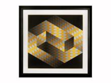 Gestalt 2, Ltd Ed Silk-screen, Victor Vasarely