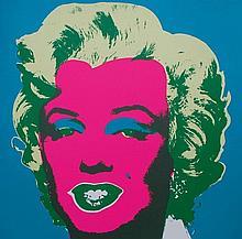 Andy Warhol - Marilyn Monroe (Pink on Blue)