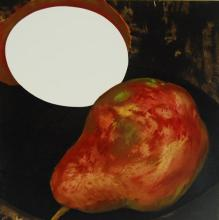 Donald Sultan - Two Pears, a Lemon, & Egg