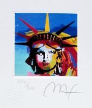 Peter Max - Liberty Head III
