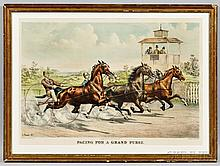 Currier & Ives, publishers (American, 1857-1907)  Pacing for a Grand Purse, c. 1890 (Conningham, 4677). Titled and credited below image