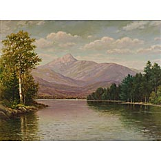 William Paskell (American, 1866-1951) New Hampshire Mountain View. Signed l.l. Oil on canvas, 30 x 40 1/4 in., framed.