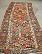 Northwest Persian Long Rug, late 19th century, (areas of wear, guard stripe missing from one end), 10 ft. 2 in. x ...