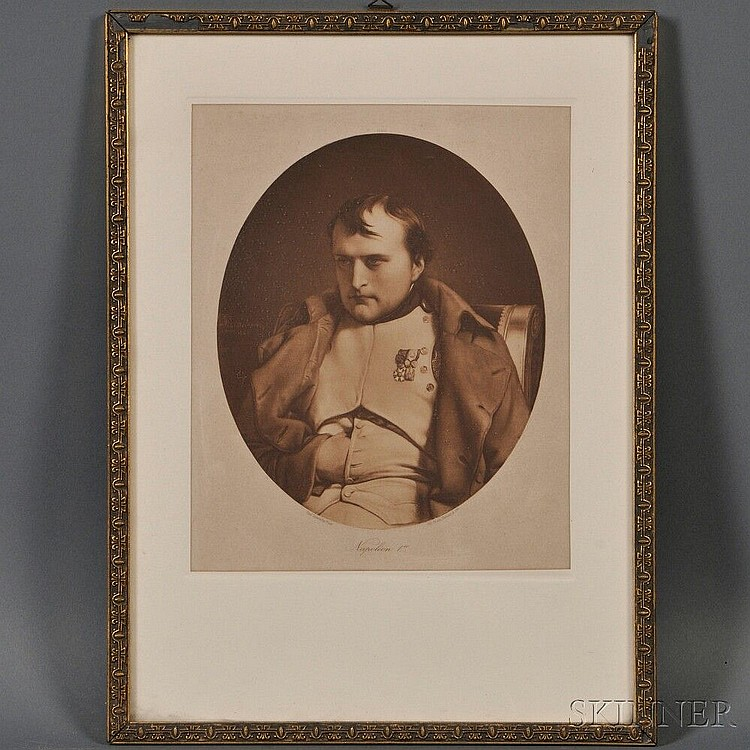 Braun, Clément & Co. (French, ac. 1877-1928), After Paul Delaroche (French, 1797-1856) Napoleon I, the oval-format mezzotint depicting