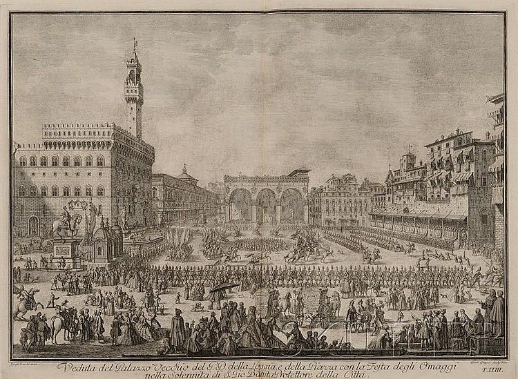 (Italy, Views, 18th century), Zocchi, Giuseppe (1711-1767), Scelta di XXIV Vedute delle principali Contrade, Piazze, Chiese, e Palazzi