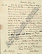 Adams, John (1735-1826), Autograph Letter Signed, December 9th, 1777, one page, to fellow signer Elbridge Gerry, a letter to his close friend condemning the practice of distributing goods to obtain popular support and introducing John Thaxter as a