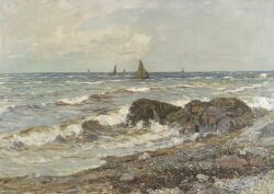 Edward Emerson Simmons (American, 1852-1931), Coastal Scene, Signed and dated