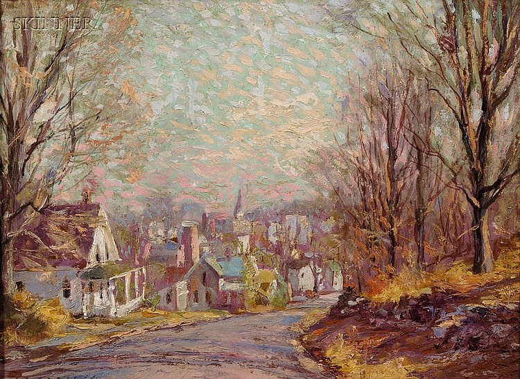 Phillip Brown Parsons (American, 1895-1977) The Road into Town Signed