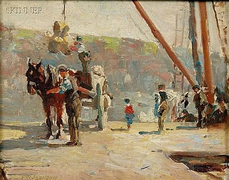 Frederick William Jackson (American, 1859-1918) Loading Stamped