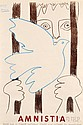 Pablo Picasso (Spanish, 1881-1973) Amnistia, 1959. Signed, dated, and identified within the matrix. Color lithographic poster on paper,