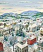 Maxwell Mays (American, 1918-2009), Snow-covered Town, Signed
