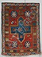 Kazak Rug, Southwest Caucasus, last quarter 19th century, (slight end fraying on one end), 4 ft. 4 in. x 3 ft. 2 in.