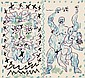 Pablo Picasso (Spanish, 1881-1973) Dessins d'un demi-siècle, 1956, edition for the cover of the catalogue for L'exposition 1956 de Be