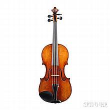 Modern Violin, labeled JEAN BAPTISTE VUILLAUME, PARIS, handwritten inside W.S.KRAWCZYK., length of back 360 mm.