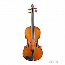 Modern German Violin, Albin L. Paulus, Jr., Markneukirchen, labeled ALBIN L. PAULUS JR., VIOLIN MAKER, length of back 358 mm.