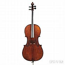 French Violoncello, Mirecourt, labeled JEAN BAPTISTE VUILLAUME, length of two-piece back 75.4 cm, with case.