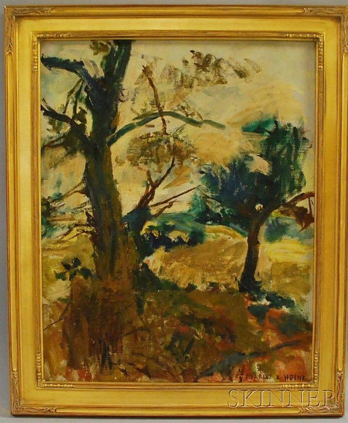 Charles Lloyd Heinz (American, 1884-1953) Sketch/Landscape. Signed