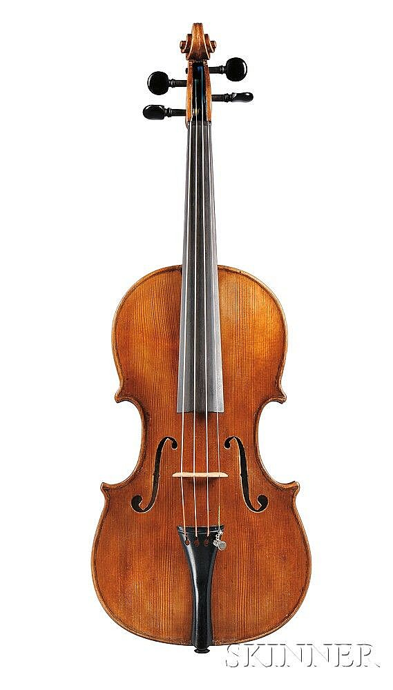 Neapolitan Violin, Gagliano School, c. 1890, labeled ...I FRATELLI, RAFFAELE ED ANTONIO GAGLIANO..., length of back 355 mm, with case.