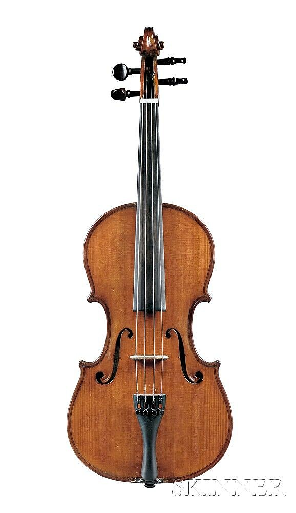 Italian Violin, Giovanni Maria Ceruti Workshop, Cremona, 1923, bearing the label OFFICINA CLAUDIO MONTEVERDE...1923, length of back 358