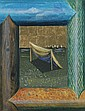 JOHANNA KANDL (Austrian, b. 1954). TENT VIEWED FROM A WINDOW, signed and dated on verso. Mixed media.