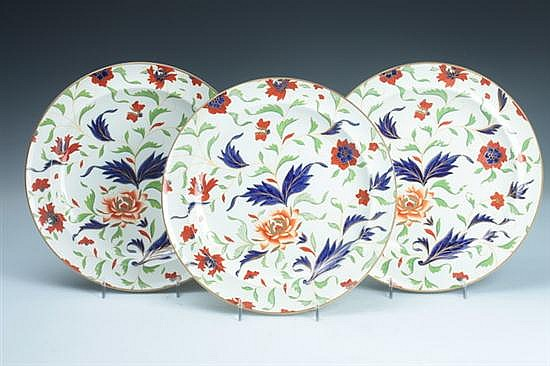 TEN WEDGWOOD QUEENSWARE PLATES, Mid-19th century; impressed Wedgwood mark. - 10 in. diam.