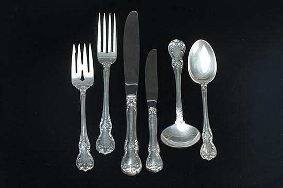 93-PIECE TOWLE STERLING SILVER FLATWARE SERVICE.
