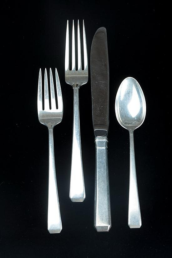 39-PIECE TOWLE STERLING SILVER FLATWARE SERVICE,