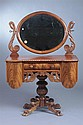 AMERICAN VICTORIAN MAHOGANY PEDESTAL BASE-DRESSING TABLE. - 58 in. x 48 1/2 in. x 21 1/2 in.