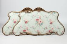 PAIR OF FRENCH LOUIS XVI-STYLE SHELL FORM CARVED GILTWOOD HEADBOARDS. 19th Century. - Approx. 59