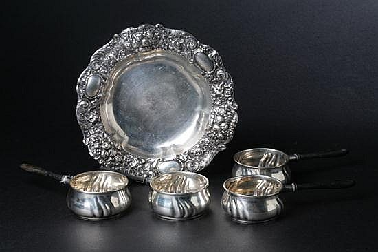 16 PIECES GERMAN SILVER HOLLOWWARE, late 19th-early 20th century; G. Schnauffer, Dresden; 800 silver standard. - 30 oz., 8 dwt., total