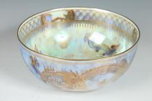 WEDGWOOD FAIRY LUSTER BOWL IN DRAGON LUSTER PATTERN, Signed Wedgwood England & Z4829. - 3 5/8