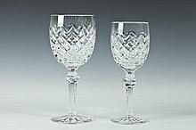 COLLECTION OF TWENTY-FOUR WATERFORD CRYSTAL GOBLETS IN THE POWERSCOURT PATTERN, 20th Century.