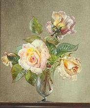 CECIL KENNEDY (British, 1904-1997). ROSES, signed lower right. Oil on canvas.