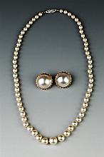 TWO PIECES PEARL JEWELRY,