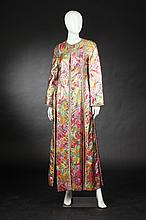 MALCOLM STARR INTERNATIONAL DESIGNED BY RIZKALLAH BROCADE ENSEMBLE, 1970s; size 10.